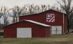 Patriotic Red White  Barn Quilt