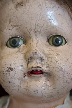 Antique 30s Haunted Scary Baby Girl Doll Human by vampofvintage, $149.99 wow I have a doll almost just like this