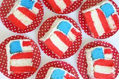 4th of July Flag Cake