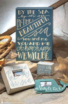 Beach Decor. Box Sign Sayings.