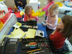 Office in the dramatic play area