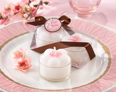 cherry blossom tealight candles as low as $5.19, cherry blossom wedding favors, cherry blossom wedding decorations