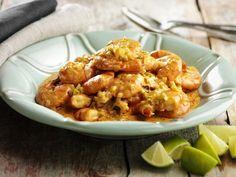 Curry van scampis en kokos