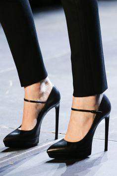 Saint Laurent Spring/Summer 2013. mari jane, fashion shoes, style, yves saint laurent, mary janes, black shoes, pump, heels, ysl