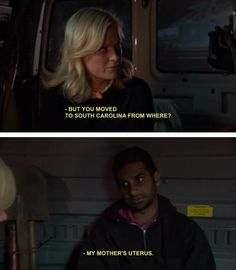 Parks and Recreation funni stuff, parks, answer, jeremi hous, hilari funni, question, brown peopl, funny memes, funni meme