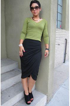DIY V8711 Mock Wrap Skirt