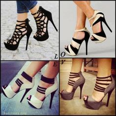 Luxurious Snake Skin Peep Toe Ankle Strap High Heel Shoes , Unique Design Ladies' Stiletto Heels Sandals, Black Butterfly Cut-Outs Stiletto ...
