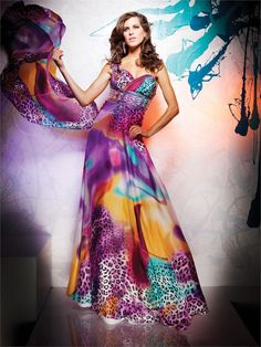 Tony B by Tony Bowls dress 2351116 - 2011 Collection This has EVERYTHING color AND animal print!! and only $268
