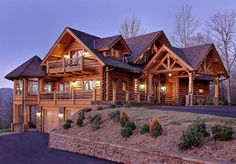 Handcrafted log home so beautiful
