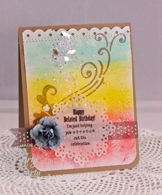 Stampendous Belated b'day card by Stephanie Lee