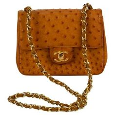 Check out this item at One Kings Lane! Chanel Ostrich Mini Classic Flap