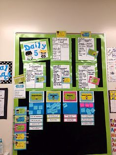 Great Daily 5 and CAFE focal board