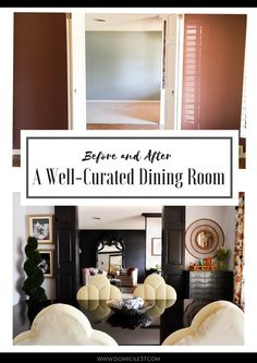 Curated dining room,