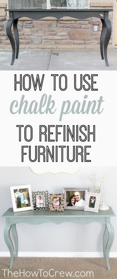 How To Use Chalk Paint to Refinish Furniture from TheHowToCrew.com. paint furniture, diy chalk paint and wax
