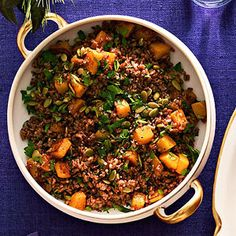 Thanksgiving Sides: Red Rice with Roasted Butternut Squash #thanksgiving #sides #fall #recipe