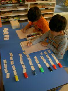 Toy cars made into Montessori reading and writing and grammar work! {Inspired Montessori and Arts at Dundee Montessori log} Montessori