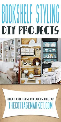 Bookshelf Styling DIY Projects - The Cottage Market