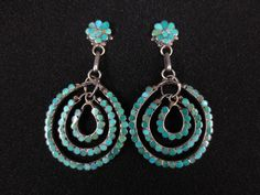 Vintage Zuni Silver & Turquoise Earrings – Dishta  these are lovely!
