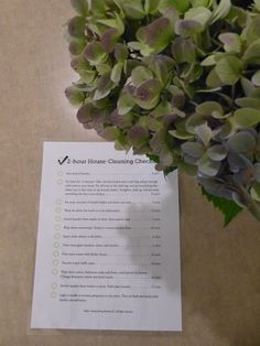 2-hour house cleaning checklist