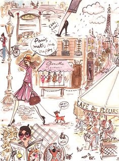 "♔ ""Paris makes me happy"" by Izak Zenou"