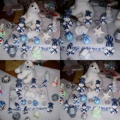 No l on pinterest 139 pins - Deco table de noel blanc ...