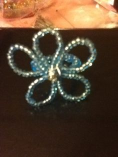 Handmade Flower Seed Bead Ring