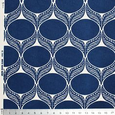 Organic Canvas - June Leaf Navy from Winter Water Factory