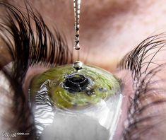 stunning photography, eye drop, eyedrop, tear drops, green eyes, eye art, water droplets, green onions, photographi