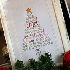 Christmas scripture word tree printable- Warming up to Subway art, too, and I LOVE this!
