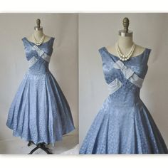 50s cocktail dress in blue