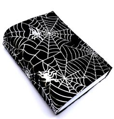 Spider web journal blanc notebook diary travel by LindeDesigns