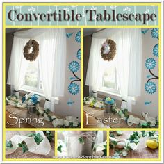 Easy Convertible Spring to Easter Tablescape #SpringCrafts #EasterCrafts (sponsored) @Oriental Trading Company