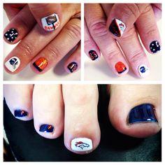 Broncos Nails  #nailart  #denver #broncos #football