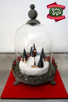 Make this Homemade Holiday Gift: Glass Snow Globe — HOMEMADE HOLIDAY GIFT IDEA EXCHANGE: PROJECT #21