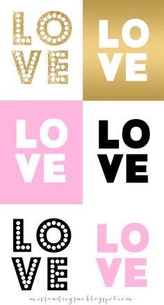 Miss Audrey Sue | BLOG: freebie: Valentine's Day printables