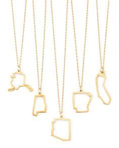 Maya Brenner Designs 14k Gold State Necklaces