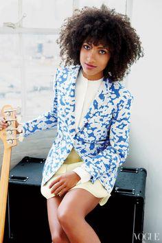 Esperanza Spalding in a very unconventional blazer.
