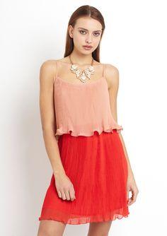 ARK & CO. Pleated Colorblock Dress