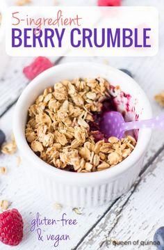5-ingredient Mixed Berry Crumble (+ a giveaway) - Queen of Quinoa | Gluten-free + Quinoa Recipes