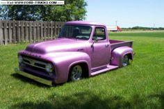 Ford-Trucks.com's Ride of the Week this week. Slick lookin purple Mercury M-100. 1953 Mercury M100 4x2 - Mercury M-100