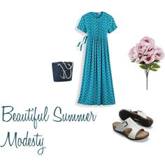 """BEAUTIFUL SUMMER MODESTY"" by sistrbeth on Polyvore"