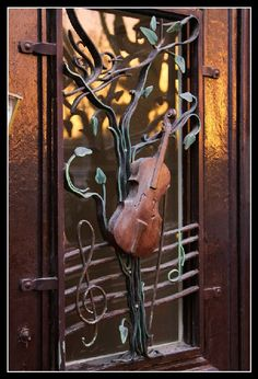 A musician's front door in Brussels, Belgium