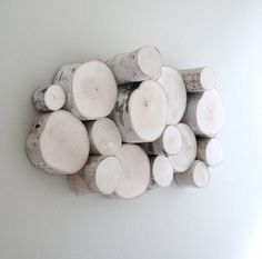 White birch forest topography - organic wood wall art