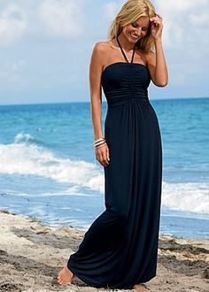 Ruched front maxi dress