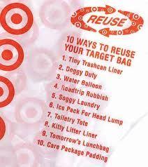Reuse plastic bags