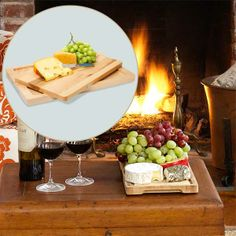 Keep prep simple by welcoming guests with a holiday spread on a cutting board that lifts out for serving.  About $80 from wayfair.com | thisoldhouse.com