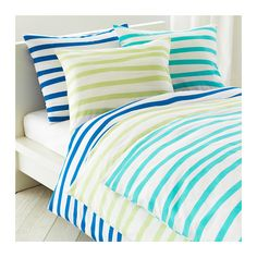 SPRINGKORN Duvet cover and pillowcase(s) - blue, Full/Queen  - IKEA