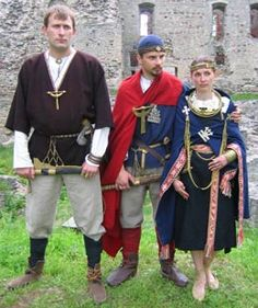 These were ancient Baltic costumes from Latvia, 8-12th century