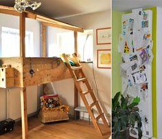 boys room :: salvaged wood loft bed