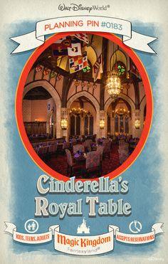 Walt Disney World Planning Pins: Cinderella's Royal Table